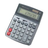 Compucessory 12-Digit Large Display Calculator, Gray