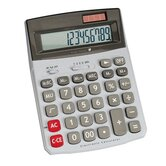 Compucessory 12-Dgt Dual Power Desktop Calculator, Light gray