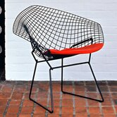 Diamond Chair with Seat Pad by Harry Bertoia