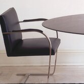 Brno Flat Bar Armchair with Arm Pad and Glide by Mies Van Der Rohe