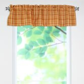 Upstream Plaid Linen Rod Pocket Curtain Valance
