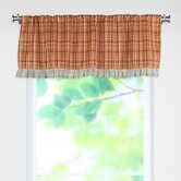 Upstream Plaid Linen Valance with Rod Pocket Pleated Bottom