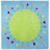 Planet Of Flowers Kids Rug