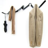 Ribbon Coat Rack in Matt Black