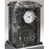 Clock Tower Deluxe Natural Marble Large / Adult Urn in Ebony and Black