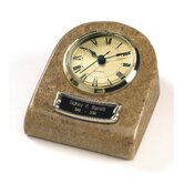 Clock Tower Deluxe Desktop Natural Marble Keepsake in Earth Grain