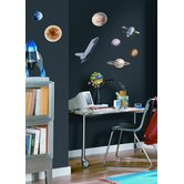 Space Travel Peel and Stick Wall Sticker