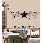 Country Stars and Berries Peel and Stick Wall Decal