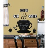 Coffee Cup Chalkboard Peel and Stick Wall Decal