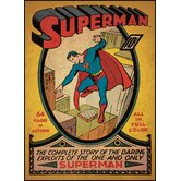 Superman Issue No. 1 Peel and Stick Comic Book Cover Wall Decal