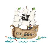 Pirate Ship Peel and Stick Giant Wall Decals