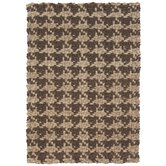 Houndstooth Brown Rug