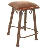 Classico Western Iron Counter Stool in Antique Brown