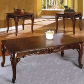 Ornate 3 Piece Coffee Table Set