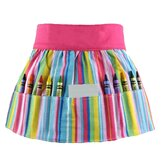 Doodlebugz Crayola Crayon Apron in Pink Stripe