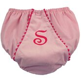 Bon Bon Corduroy Diaper Cover in Light Pink with Hot Pink Trim
