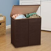 Double Hamper in Coffee Linen with Lid