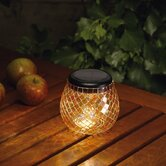 Glass Mosaic Solar Tea Light in Pearlesque Amber