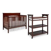 Lauren Classic Two Piece Convertible Crib Set in Walnut