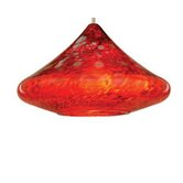 Shanti Pendant Handblown Art Glass Shade in Red