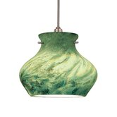 Moss Flexrail1 Pendant in Dark Bronze with Green Shade