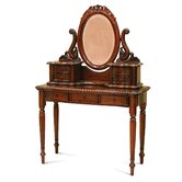 Francesca Rope Edge Dressing Table with Mirror