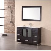 "Milan Stanton 48"" Modern Vanity with Drop in Sink"