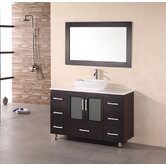 "Milan Stanton 48"" Modern Vanity with Vessel Sink"