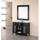 "Rome 43"" Single Sink Vanity Set in Espresso"