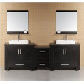 "Washington 96"" Modern Bathroom Vanity"