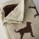 Chocolate Lab Throw