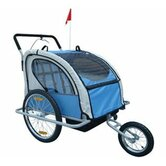 2 in 1 Double Baby Bike Trailer