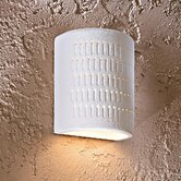 One Light Wall Sconce in White Ceramic
