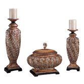 Romance Candlesticks with Decorative Box (Set of 3)
