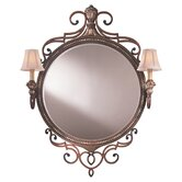 Belcaro Two Light Mirror in Belcaro Walnut