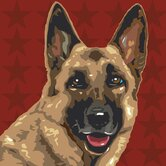 Pooch Décor German Shepherd Portrait