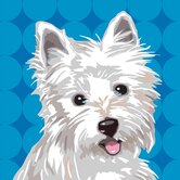Pooch Décor West Highland Terrier Portrait