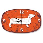Dachshund USA Wall Clock