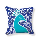 Peacock Double Sided Cotton Pillow