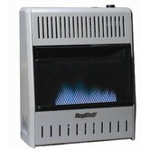 20000 BTU Dual Fuel Blue Flame Wall Heater