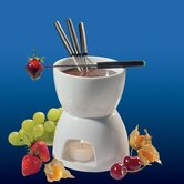 Porcelain Chocolate Fondue Set