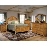 Cottage Traditions Poster Bedroom Set in Distressed Sandstone