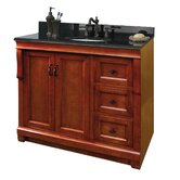 "Naples 36"" Bathroom Vanity with Left Doors in Warm Cinnamon"