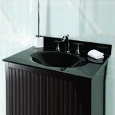 Black Glass Vanity Top with Sink