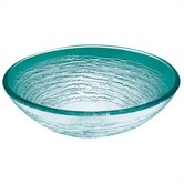 Frosted Swirl Glass Vessel Sink