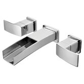 Kenzo Wall Mounted Bathroom Faucet with Double Handles