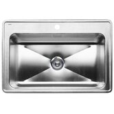 Magnum Single Bowl Drop-In Kitchen Sink in Satin
