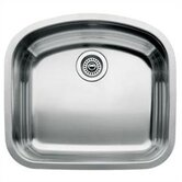 Wave Single Bowl Undermount Kitchen Sink
