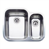 Supreme 1.5 Bowl &quot;Double Single&quot; Undermount Kitchen Sink