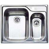 Supreme 1.5 Bowl &quot;Double Single&quot; Drop-In Kitchen Sink